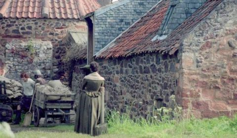 Jamie and Claire visit Preston Mill whilst at Lallybroch. Image via: Blogspot